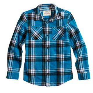 Boys 8-20 & Husky Urban Pipeline? Button-Down Flannel Shirt
