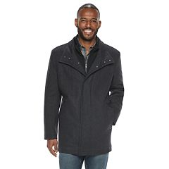 Men's AM Studio by Andrew Marc Wool-Blend Car Coat with Bib