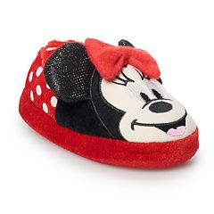 Disney's Minnie Mouse Toddler Girls' Slippers