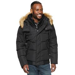 Men's AM Studio by Andrew Marc Down Hooded Faux-Fur Bomber Jacket