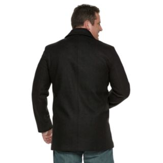 Men's Andrew Marc Wool-Blend Double-Breasted Bibbed Peacoat
