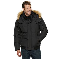 Big & Tall AM Studio by Andrew Marc Down-Filled Hooded Bomber Jacket