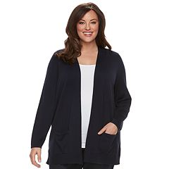 Plus Size Croft & Barrow® Essential Open Front Cardigan