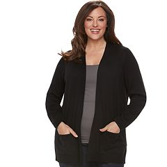 Plus Size Croft   Barrow® Essential Open Front Cardigan c6909c3fa