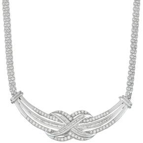 Sterling Silver 1 Carat T.W. Diamond Festoon Necklace