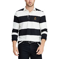 Men's Chaps Classic-Fit Colorblock Rugby Shirt
