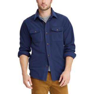 Men's Chaps Regular-Fit Plaid  Microfleece Shirt Jacket