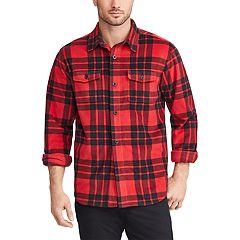 Men's Chaps Regular-Fit Plaid Flannel Shirt Jacket