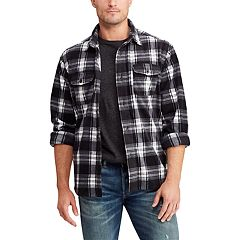 Men's Chaps Regular-Fit Plaid  Microfleece Shirt Jacket