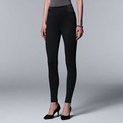 Simply Vera Vera Wang High Waist Double Elastic Ponte Leggings