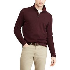 Men's Chaps Regular-Fit Mockneck Quarter-Zip Pullover