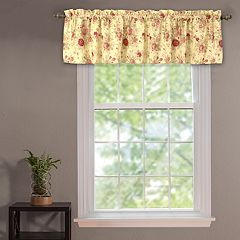 Greenland Home Fashions Antique Rose Window Valance