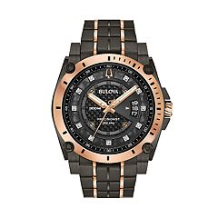 Bulova Men's Precisionist Diamond Accent Black Ion-Plated Stainless Steel Watch - 98D149