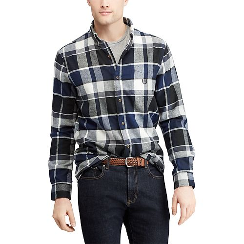 Men's Chaps Regular-Fit Performance Flannel Button-Down Shirt