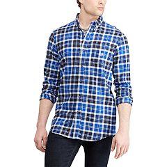 Men's Chaps Regular-Fit Plaid Flannel Button-Down Shirt