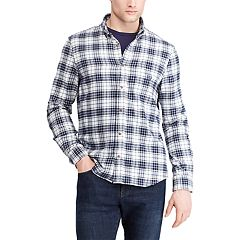 Men's Chaps Regular-Fit Plaid Flannel Button-Down Shirt