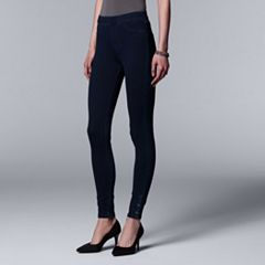 Simply Vera Vera Wang Ankle Snap Denim Leggings