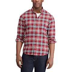 Men's Chaps Plaid Regular-Fit Performance Flannel Button-Down Shirt