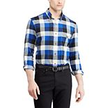 Men's Chaps Slim-Fit Plaid Flannel Button-Down Shirt