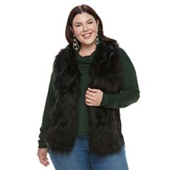 Plus Size French Laundry Faux-Fur Vest