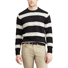 Men's Chaps Regular-Fit Striped Crewneck Sweater