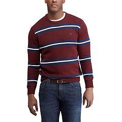 Men's Chaps Regular-Fit Striped Crewneck Sweater