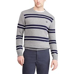 56cc3c8162 Men s Chaps Regular-Fit Striped Crewneck Sweater