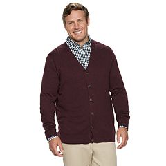 Big & Tall Croft & Barrow® Classic-Fit 12gg V-Neck Button-Front Cardigan