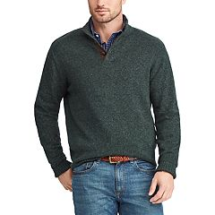 Men's Chaps Regular-Fit Mockneck Pullover Sweater