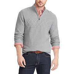 Men's Chaps Regular-Fit Textured Quarter-Zip Pullover
