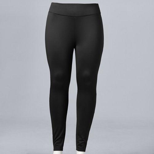 b0370fc429dbb7 Plus Size Simply Vera Vera Wang High-Waisted Fleece-Lined Leggings