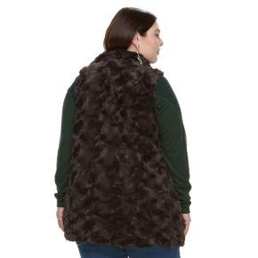 Plus Size French Laundry Faux-Fur Tunic Vest