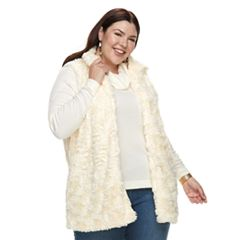 Plus Size French Laundry Faux-Fur Tunic Vest