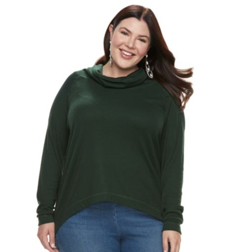Plus Size French Laundry High-Low Cowlneck Sweater