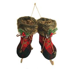 St. Nicholas Square® Wow Buffalo Check Skates Christmas Ornament
