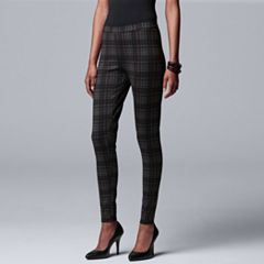 Women's Simply Vera Vera Wang Plaid Ponte Leggings