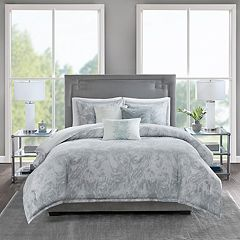 Madison Park Nowell 6-piece Cotton Sateen Duvet Cover Set