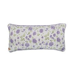Donna Sharp Lavender Rose Oblong Throw Pillow