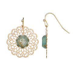 LC Lauren Conrad Filigree Flower Nickel Free Drop Earrings