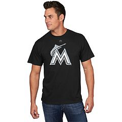Men's Majestic Miami Marlins Reflective Logo Tee