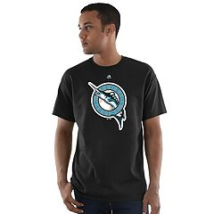 Men's Majestic Miami Marlins Official Logo Basic Tee