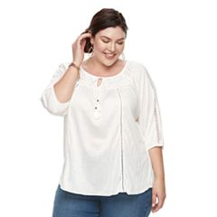 Plus Size French Laundry Lace Top