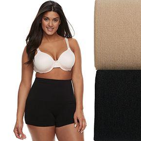 Plus Size Lunaire 2-Pack Seamless Shaping High Waist Boy Shorts 3412KP