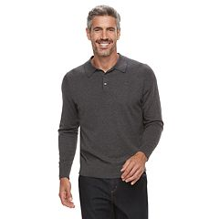 Men's Croft & Barrow® Fine-Gauge Polo Sweater