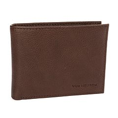 Men's Van Heusen RFID-Blocking Washed Leather Passcase Wallet