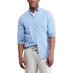 Men's Chaps Regular-Fit Striped Stretch Easy-Care Button-Down Shirt