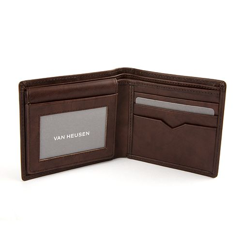 Men s Van Heusen Sandalwood RFID-Blocking Leather Passcase Wallet ca141c3df