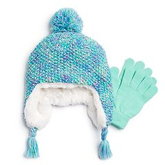 Girls 4-16 SO® Marled Hat & Magic Gloves Set