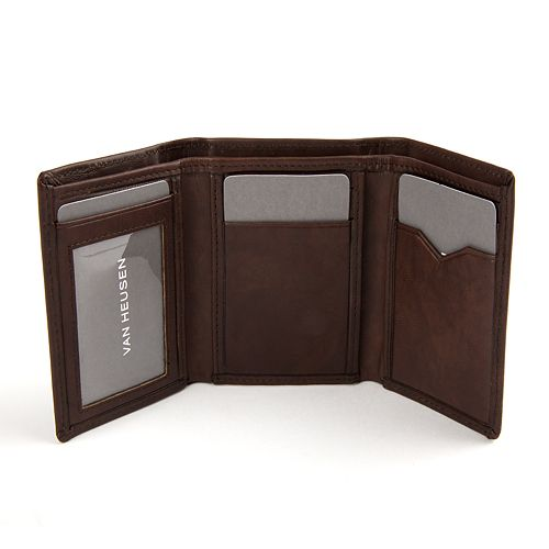 Men s Van Heusen Sandalwood RFID-Blocking Leather Trifold Wallet 974278bbe