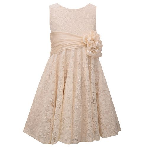 Girls 7-16 Bonnie Jean Sequined Lace Fit & Flare Dress